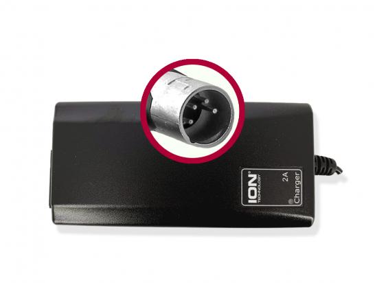 Charger Accell Li-Ion 36V 2A plug XLR 4-pin 28947-3