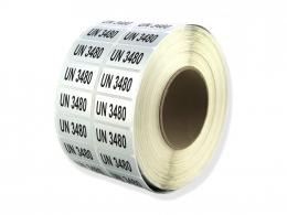 UN3480 Etiketten