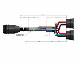 Kabelsatz Adapterkabel USB2CAN Rosenberger 36982-4
