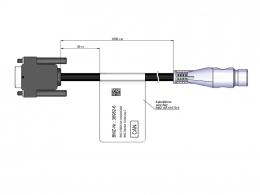 Adapterkabel USB2CAN Hirschmann-Stecker 36V 36982-6