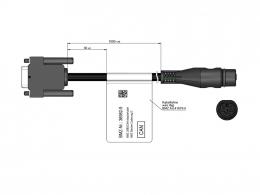Adapter cable USB2CAN Hirschmann plug 48V 36982-5