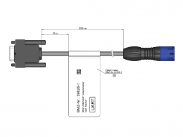 Adapter cable USB2UART 5-pin round plug 39828-1