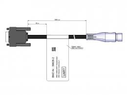 Adapter cable USB2UART Hirschmann plug 39828-2