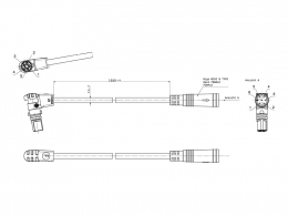 Displaykabel BMZ RS HIGO 34904-2
